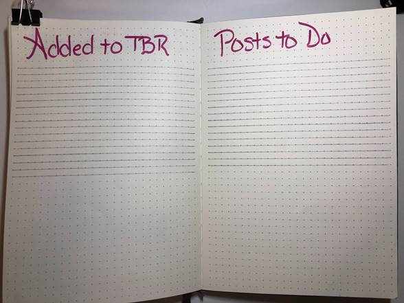 BJ 2018 December TBR and Posts to Do