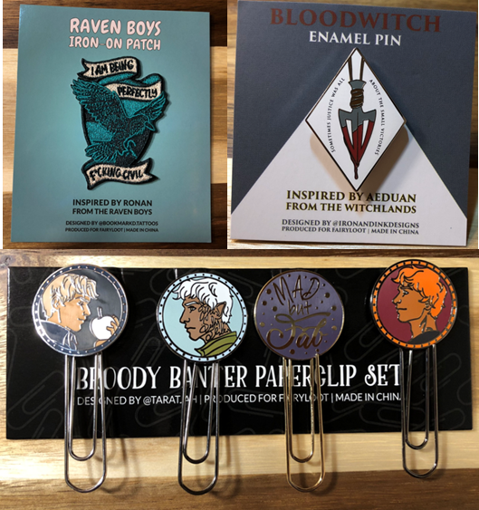 June 2019 FairyLoot - Patch, pin, paperclips